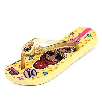 Chinelo Ipanema Infantil LOL Surprise III Amarelo