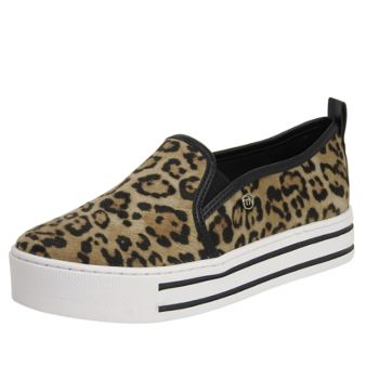 Tênis SlipOn Feminino Via Marte Leopardo Animal Print