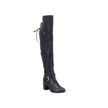 Bota Bottero Feminino Montaria Over The Knee Preta Militar