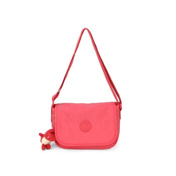 Bolsa Feminina Chaveiro Transversal Rosa Up4you