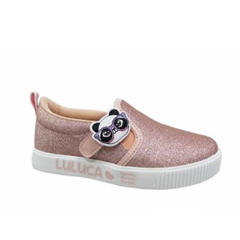 Tênis Infantil Luluca Slip On Patches Rosa/Glitter Pampili
