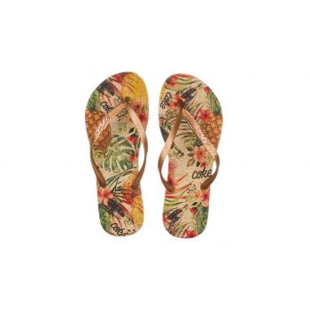 Chinelo Feminino Pineapple Estampa Bege/Cobre Coca Cola