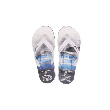 Chinelo Masculino Deck Fit Surf Branco Coca Cola
