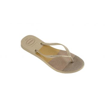 Chinelo Infantil Nude Glitter Havaiana